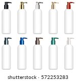 set of a real colorful cosmetic ...   Shutterstock .eps vector #572253283