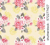 seamless floral pattern with... | Shutterstock .eps vector #572277427