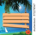 signboard on the beach | Shutterstock . vector #572278567