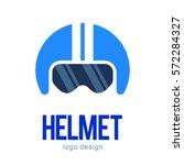 vintage bike motorcycle helmet... | Shutterstock .eps vector #572284327