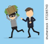 Thief Stealing Money. Funny...