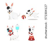 illustration isolated cute dogs ... | Shutterstock .eps vector #572304127