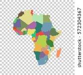vector map of africa | Shutterstock .eps vector #572304367