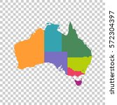 australia map color with... | Shutterstock .eps vector #572304397