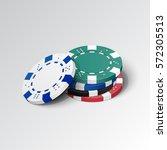 stack of casino chips. vector... | Shutterstock .eps vector #572305513