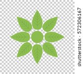 green flower icon vector flat