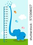meter wall with elephant.vector ... | Shutterstock .eps vector #572308027