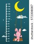 meter wall with rabbit on swing ... | Shutterstock .eps vector #572308087