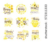 natural honey products 100... | Shutterstock .eps vector #572311333
