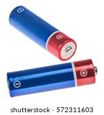 red and blue batteries isolated ... | Shutterstock . vector #572311603