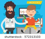 doctor and medical concept... | Shutterstock .eps vector #572313103