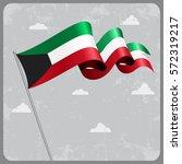 kuwait flag wavy abstract... | Shutterstock .eps vector #572319217