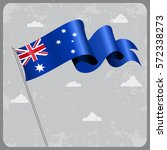 australian flag wavy abstract... | Shutterstock .eps vector #572338273