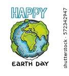 earth day. vector illustration... | Shutterstock .eps vector #572342947