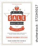 sale flyer or poster design... | Shutterstock .eps vector #572345017