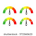 speedometer icon or sign with... | Shutterstock .eps vector #572360623