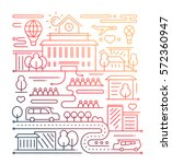 city life   vector modern... | Shutterstock .eps vector #572360947