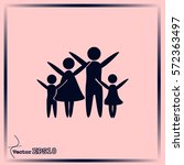 family vector icon | Shutterstock .eps vector #572363497