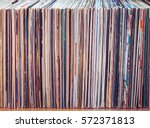 old vinyl records  collection... | Shutterstock . vector #572371813