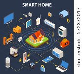 smart home internet connected... | Shutterstock .eps vector #572372017