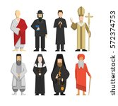 religion representatives set.... | Shutterstock . vector #572374753
