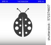 ladybug vector icon | Shutterstock .eps vector #572374837