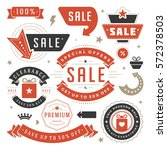 sale labels and tags design... | Shutterstock .eps vector #572378503
