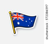 vector illustration. flag of... | Shutterstock .eps vector #572386597