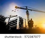 silhouette team business... | Shutterstock . vector #572387077