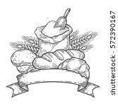 bakery bread bake  wheat ... | Shutterstock .eps vector #572390167