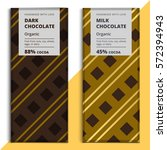 organic dark and milk chocolate ...   Shutterstock .eps vector #572394943