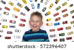 top view image of smiling boy...   Shutterstock . vector #572396407