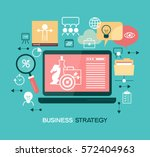 business strategy. infographic... | Shutterstock .eps vector #572404963