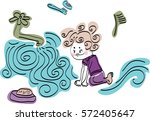 the child washes his face ... | Shutterstock .eps vector #572405647
