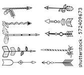 set of hand drawn arrows... | Shutterstock .eps vector #572409673