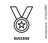 success icon or logo in modern... | Shutterstock .eps vector #572413987