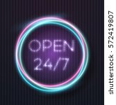 illustration of vector neon... | Shutterstock .eps vector #572419807