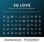 set of 50 minimal valentine's... | Shutterstock .eps vector #572420467