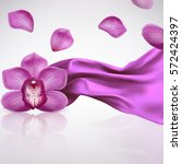 Purple Orchid Flower On A...