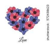 vector illustration. floral... | Shutterstock .eps vector #572438623