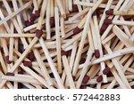 match sticks with brown heads... | Shutterstock . vector #572442883
