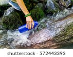 Beautiful Woman Taking Water...