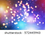 colorful crowd on concert disco ... | Shutterstock . vector #572445943