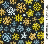 different vector snowflakes... | Shutterstock .eps vector #572447683