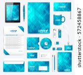 blue set of vector corporate... | Shutterstock .eps vector #572458867