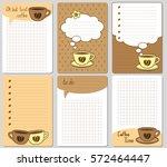 vector cute cards. notes ... | Shutterstock .eps vector #572464447