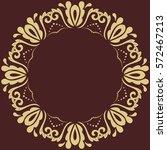 oriental vector round golden... | Shutterstock .eps vector #572467213