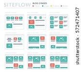 website wireframe layouts ui... | Shutterstock .eps vector #572471407