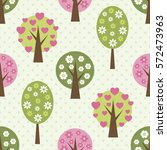 seamless pattern with trees | Shutterstock .eps vector #572473963