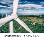 wind turbine from aerial view   ... | Shutterstock . vector #572474173